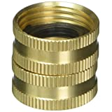 Gilmour Heavy Duty Hose Connector Double Female Swivel Brass 3/4 inch NH x 3/4 inch NH 807734-1001 (Color: Brass, Tamaño: 3/4-Inch by 3/4-Inch)