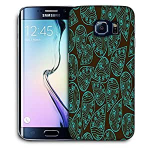 Snoogg Green Pattern Leaves Printed Protective Phone Back Case Cover For Samsung Galaxy S6 EDGE / S IIIIII