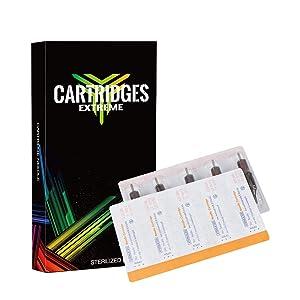 Dragonhawk 20Pcs Extreme Cartridges Disposable Tattoo Needle 9 Round Shader (9RS) (Tamaño: 9RS)