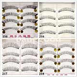 10 Pair Natural Hick Soft Handmade Makeup False Eyelashes#Style 217