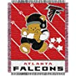 "Atlanta Falcons NFL Triple Woven Jacquard Throw (Baby Series) (36x46"")"""