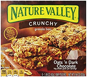 Nature Valley Crunchy Granola Bars, Oats and Dark Chocolate, 6 - 1.49 Ounce Bars (Pack of 6)