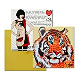 Rose Hill Tiger Portrait Greeting Card