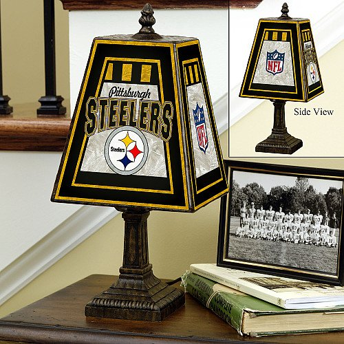 Pittsburgh Steelers 14 Inch Art Glass Lamp from SteelerMania