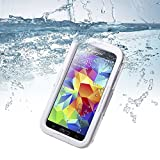 Getwow(TM) Durable Slim Ultra 100% Water Resistant Waterproof Shockproof Crashproof Dustproof Ocean proof Dirt proof Snow proof Sand proof Hard Skin Protective Bumper Case Cover Defender with Impact Resistant Screen Protector for Mobile Cell Phone Samsung