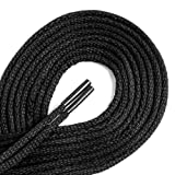 G-30 WAXED DRESS ROUND Black 40 inch Laces 2 Pair Pack