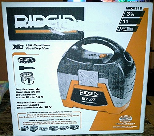 Ridgid 18-Volt Cordless Wet/Dry Vacuum (Tool-Only) (Rigid Portable Vacuum compare prices)