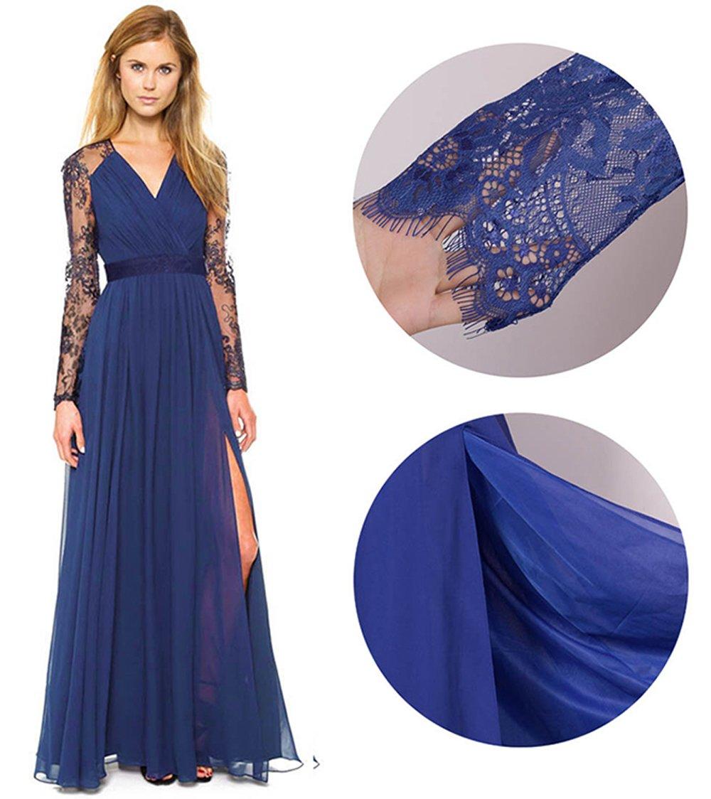 Merope J Women's Casual Deep- V Neck Sleeveless Vintage Maxi Dress 2