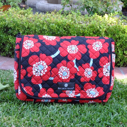 Balboa Baby Messenger Bag, Red Poppy