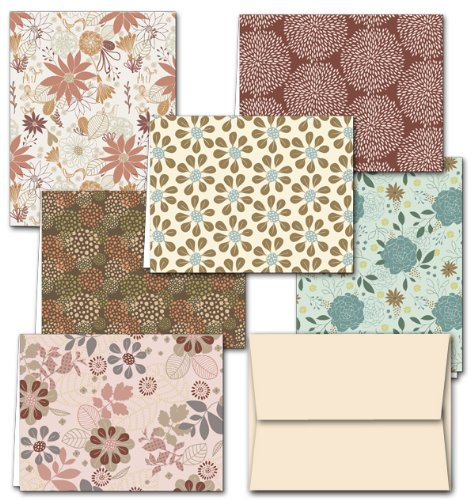Floral Note Card Set with Envelopes