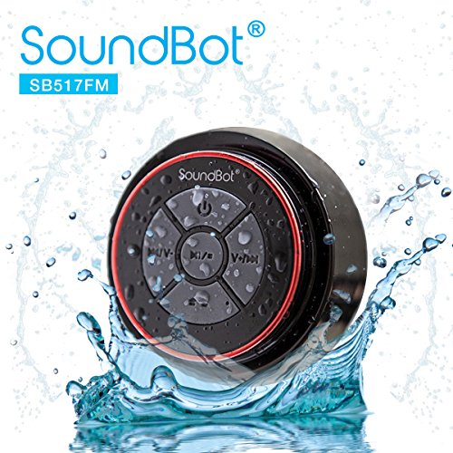 Cheapest Prices! SoundBot SB517FM IPX7 Water-Proof Bluetooth Speaker with FM Radio (Red/Black)