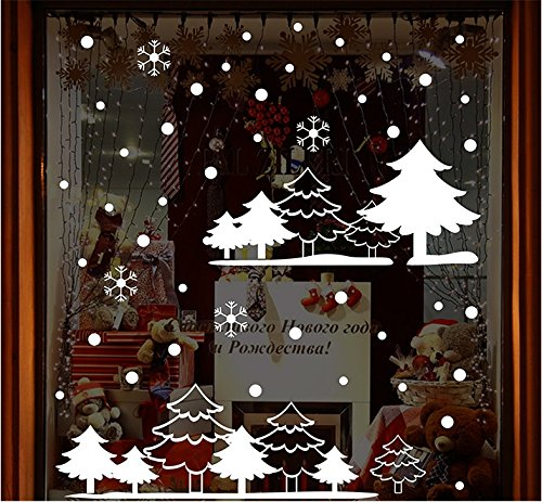 TOTOMO Christmas White forest Window Decal Sticker (Farm Window Decal compare prices)