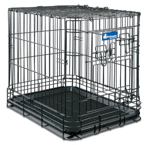 Petmate Deluxe Edition Wire Dog Kennel, Large, 36 by 24 by 28-1/2-Inch
