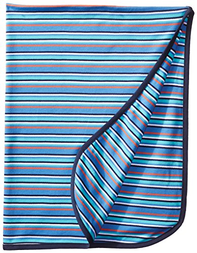 Zutano Baby-Boys Newborn Multi Stripe Swaddle Blanket, Periwinkle, One Size