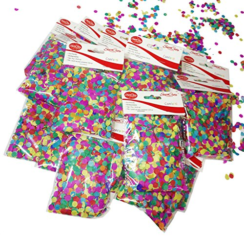 SupaCute Birthday Party Paper Confetti - 16 Bags