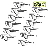 MAGID Y50BKAFC15 Iconic Y50 Design Series Safety Glasses with Side Shields | ANSI Z87+ Performance, Scratch & Fog Resistant, Comfortable & Stylish, Cloth Case Included, 1.5 BiFocal Lens (12 Pair) (Color: Clear Lens | 1.5 Diopter, Tamaño: 12 Pair)