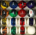 Pool Table Billiard Ball Set, Tech Style