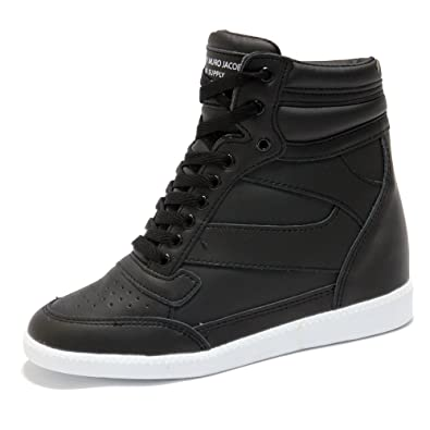 Women's Black High Top Fashion Sneakers Women s Black High Top Hidden