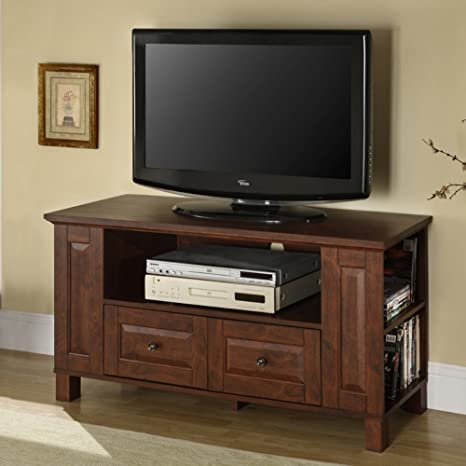 "44"" Multi-Purpose Wood TV Console - Traditional Brown"