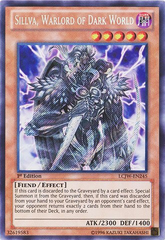 Yu-Gi-Oh! - Sillva, Warlord of Dark World (LCJW-EN245) - Legendary Collection 4: Joey's World - 1st Edition - Secret Rare (Dark World compare prices)