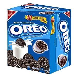Oreo Cookies 10 Pack Stay Fresh 4.5oz. Each 3Lbs.