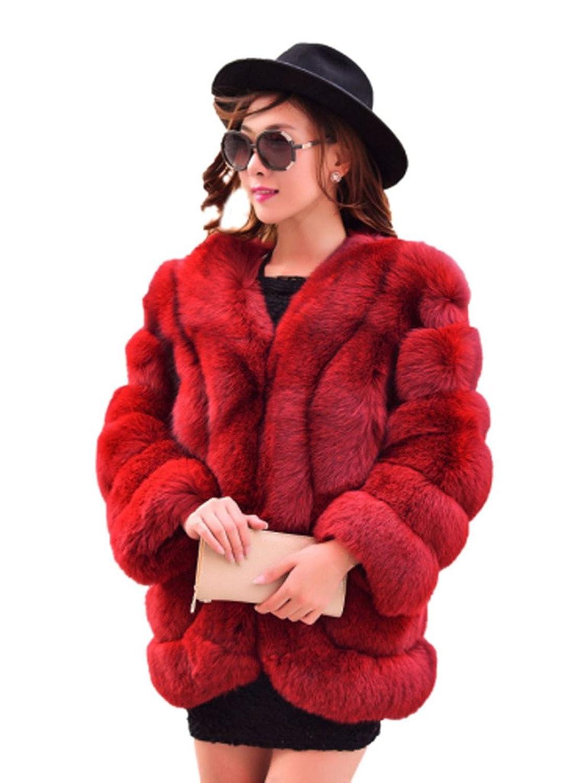 YR.Lover Mode Damen wirklich Fuchs Pelz kurz Mantel&Jacke jetzt bestellen