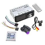 4012B 4.1 inch 1 Din Car Radio Auto Audio Stereo FM Bluetooth 2.0 MP5 Player Support Rear View Camera Steering Wheel Control (Color: multi-color mixed)