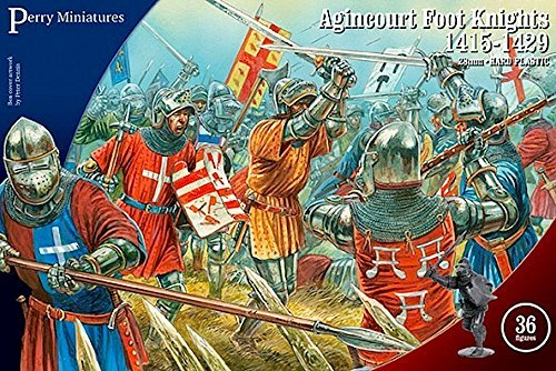 Perry Miniatures - Set AO 60 Agincourt Foot Knights 1415-29 Plastic 28mm Toy Soldiers Set by Perry Miniatures