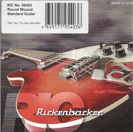 Genuine Rickenbacker Roundwound Guitar 6 String 95403 .010-.046