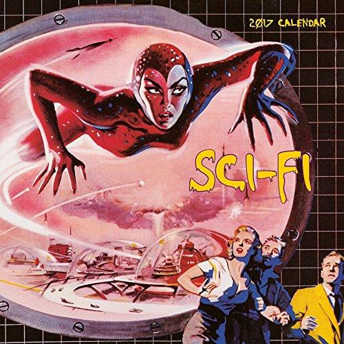 Sci Fi Magazine Covers 2017 Wall Calendar (Vintage Scifi Calendar compare prices)