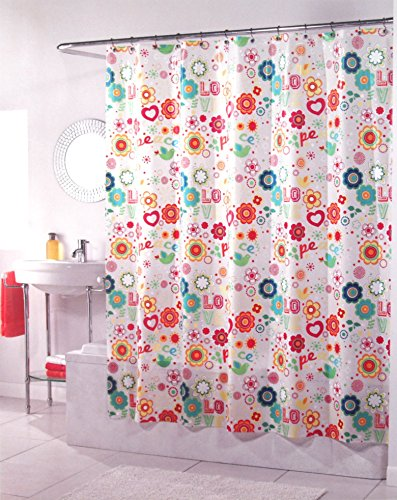 Merveilleux Peace And Love Peva Shower Curtain