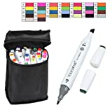 Dreamyth Touchfive 30Colors Pen Marker Set Dual Head Sketch Markers Brush Pen Durable (White) (Color: White, Tamaño: 122mm (long) * 50mm (diameter) * 65mm (diameter))