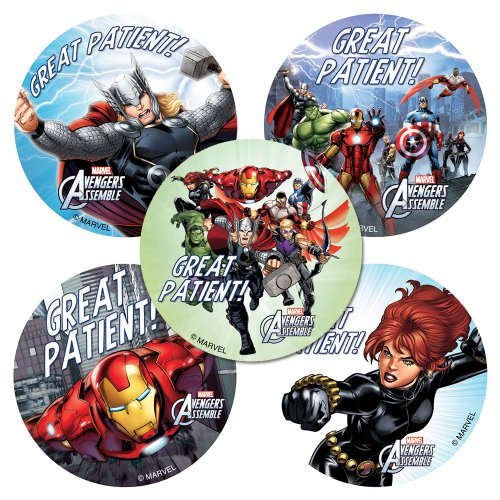Avengers Patient Stickers - 75 Per Pack