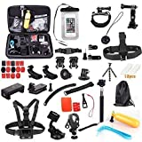 Camera Accessories Kit Ultra 58-in-1 For Gopro Hd Sport Acion Camera Hero 2 4 3 Black Silver