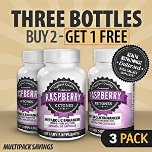 NutraXen - Enhanced Raspberry Ketones - 100% Natural Metabolic Enhancer - Buy 2 Get 1 FREE