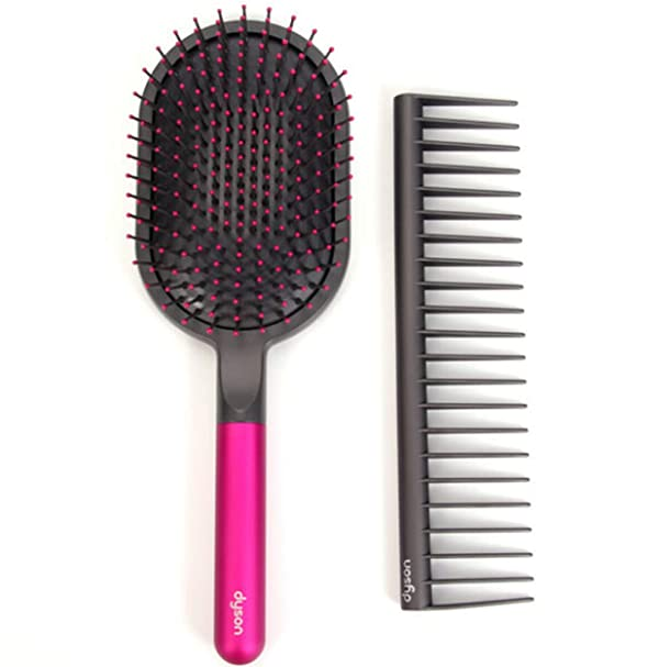 Dyson Designed Detangling Comb and Paddle Brush Supersonic Hair Dryer (Color: Grey)