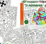 ENTRETENIDO JUEGO QUE CONSTA DE 8 LAMINAS PARA COLOREAR, 1 PALETA DE 6 ACUARELAS (ESPECIALES PARA NIÑOS Y FACILES DE LIMPIAR) ,1 PINCEL, 1 MANTEL DE PLASTICO Y UNA GUIA DE JUEGO.SOLO HAY QUE SEGUIR LOS NUMEROS PARA COLOREAL EL DIBUJO Y....¡¡VERAS QUE...