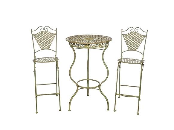 Mobili da giardino in ferro mobili bar tavolo e due sgabelli da bar in stile