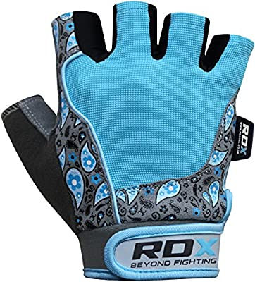 Authentic RDX Ladies Gel Gloves Fitness Gym Wear Weight Lifting Workout Training Cycling Blue by RDX