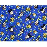 SheetWorld Crib / Toddler Sheet - Mickey Mouse Blue - Made In USA