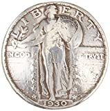 Concho 0.75-Inch Antique Silver Standing Liberty Quarter Coin