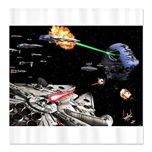star wars bathroom shower curtain