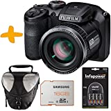 "Bundle Fuji S4800 Black Digital Camera +Case +Samsung 16GB +NiMh Batteries & Charger (Fujifilm Finepix S4800HD 16MP 3"" LCD 30x Super Zoom Bridge Camera)"