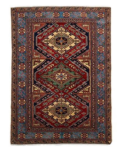 Darya Rugs Fine Kazak Oriental Rug, Red, 4' 2 x 5' 6