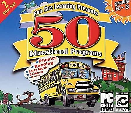 Fun Bus 50 Educational Programs Jewel Case