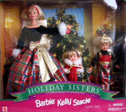 New holiday sisters 1998 christmas season barbie kelly stacie special
