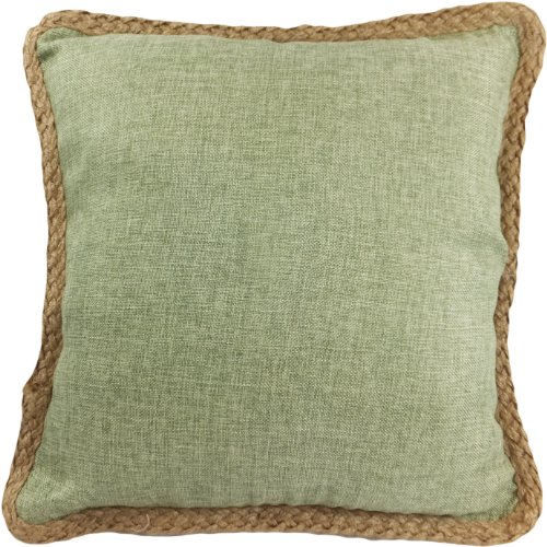 Decorative Hamp Rope Piping Throw Pillow Cover 18 Lime Green черный треугольник