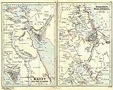 EGYPT & SUDAN:Nubia Darfur Kurdufan Sinai.Suez Isthmus pre-canal.BUTLER;1888 map
