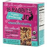18 Rabbits Jr. Organic Gluten Free Granola Bar, Chocolate Cherry, 6-Count Box, 6.3 Ounce