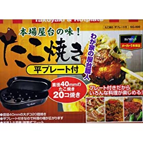 Sungold Electric Takoyaki Pan & Hotplate - 20 Molds